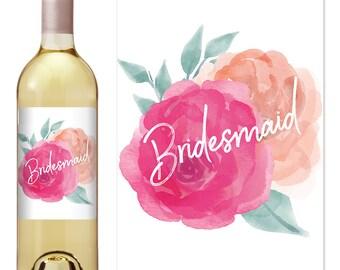 Bridesmaid Proposal - Bridesmaid Wine Bottle Label - Asking Bridesmaid - Bridesmaid Gift - Will You Be My - Bridesmaid Ideas -Bridesmaid Box
