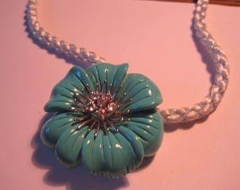 Angelique de paris  necklace...sterling...lucite