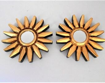 """4.75"""", Wall Mirrors, Sunburst Mirrors,Round Mirrors,Gold Mirrors,Decorative Wall Mirrors,Small Wall Mirrors,Decorative Mirrors,Item GLSM5123"""