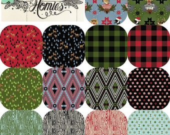 Half Yard Bundle HOLIDAY HOMIES(14)  by Tula Pink for Free Spirit Fabrics