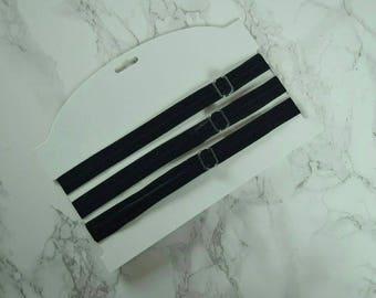 3 Black Adjustable Elastic Headband Hair Care Headband Natural Hair Accessories Natural Hair Kids Headbands Afro Protective Style