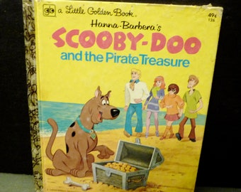 Scoopy - Doo and the Pirates Treasure- a Little Golden Book - 1974