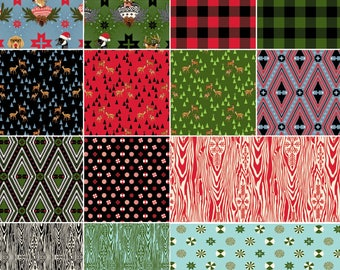 Holiday Homies by Tula Pink Fat Quarter Bundle Free Shipping in the US