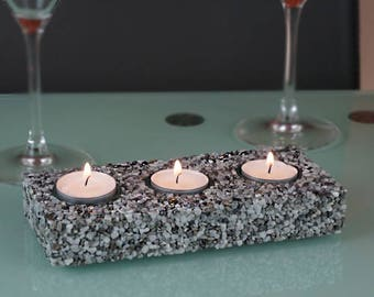 Candlestick marble stone