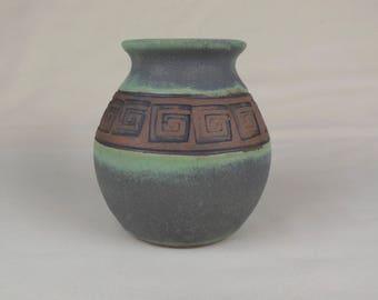 Round Green Vase