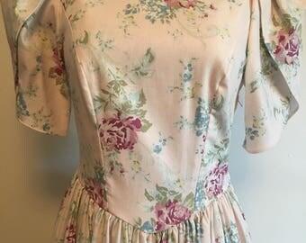 Laura Ashley Dress Etsy - Laura ashley silk curtains