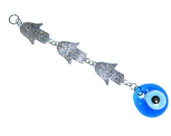 D-0109 - 4cm Lucky Evil Eye / Hamsa Hand Wall Hanging Gift for Protection & Good Luck