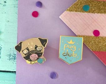 pug pins gift, pug pin, pug gift set, Pug Club lapel pin, pug, pug gift, pug brooch, pug pin, enamel pin, pug pin badge