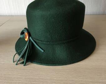 Vintage Hunter Green Hat