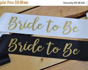 WEEKEND SALE Bride to Be Sash, Bride Sash, Bachelorette Party Sash, Bridal Shower Sash, Future Mrs Sash, Custom Sash, Future Mrs Gift, Bride