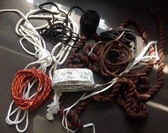Rope, string, cord, ribbon - grab bag