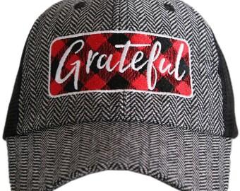 Grateful Hat Blessed Hat Christian Hat Winter Hat