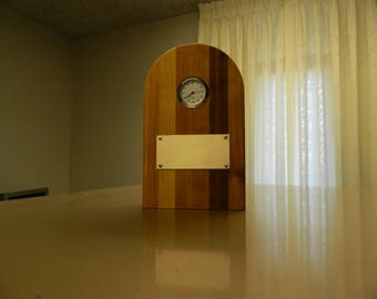Wooden Clock with Plate