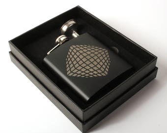 Cubic Explosion - Black Stainless Steel Flask