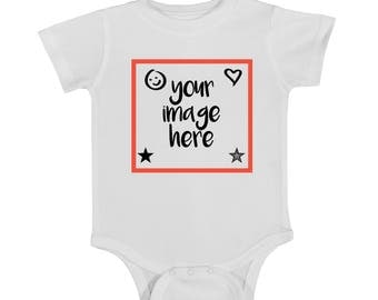 Customizable onesie, custom onesie, baby onesie, newborn onesie, custom image, custom bodysuit, custom baby shirt