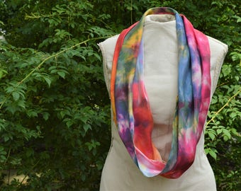 INFINITY SCARF//MULTI-Colored//Handmade//Summer Scarf