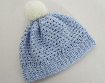 """18"""" Doll Light Blue Pom Pom Toque - 18 Inch Doll Clothes - Fits Like American Girl ® Doll Clothes"""