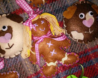 Christmas Tree Decorations - Gingerbreads