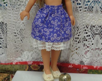 Beautiful Purple Skirt for 12.5 and 13 inch dolls - Paola Reina- Corolle Les Cheries Dolls