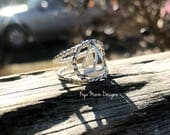 Sailboat ring, sterling silver sailboat, sail away with me, ocean jewelry, sea waves ring, beach jewelry ring