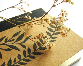 Notebook 'Nature' with stamp print