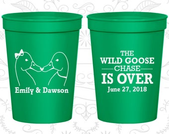 Green Stadium Cups, Green Cups, Green Party Cups, Green Wedding Cups (251)