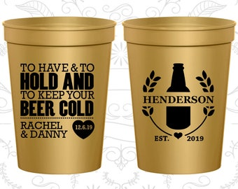 Gold Stadium Cups, Gold Cups, Gold Party Cups, Gold Wedding Cups (436)