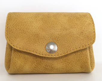 Wallet leather yellow , leather wallet in yellow , leather purse, leather wallet , yellow leather