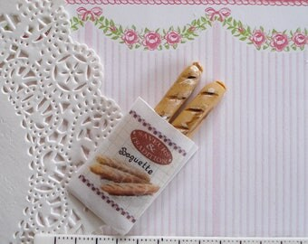 Barbie or 1/12 scale miniature dioramas 1 small bag + 2 baguettes