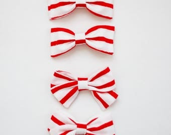 Valentines Striped Pigtail Sets