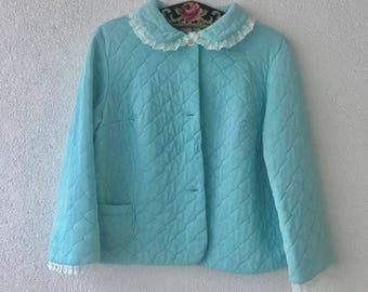 KAWAI vintage jacket Nightgown Lolita M / L