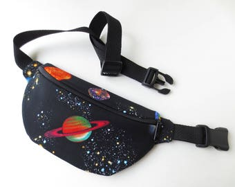 Planets, Stars, Solar System Print Fanny Pack