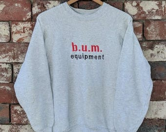 Vintage embroidered B.U.M. equipment crewneck