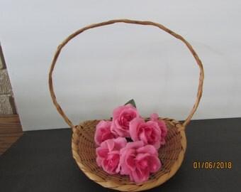 flower girl vintage gathering basket
