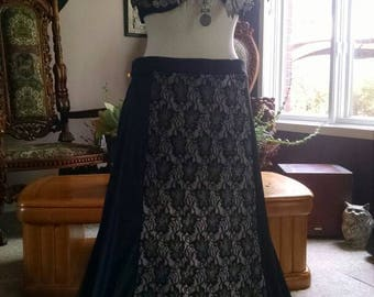 Black and Lace Mermaid skirt