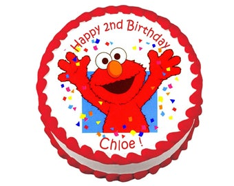Elmo round party decoration edible cake image cake topper frosting sheet
