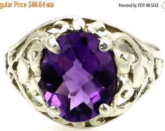 On Sale, 20% Off, Amethyst, 925 Sterling Silver Ring, SR004