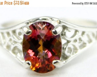 On Sale, 30% Off, Twilight Fire Topaz, 925 Sterling Silver Ring, SR005