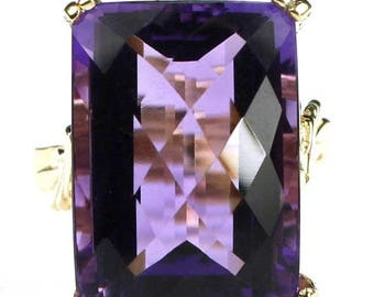 On Sale, 30% Off, Amethyst, 14KY Gold Ring, R039