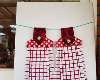 Hanging kitchen towels - set of two