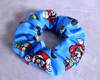 Super Mario Hair Scrunchie 100% Cotton