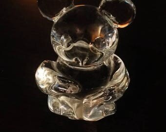 ON SALE - Vintage Lead Crystal Mouse