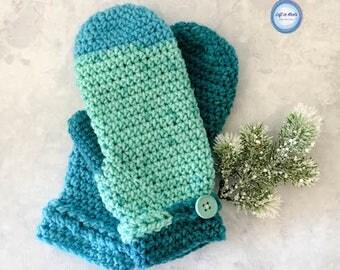 Frozen Fingers Crochet Mittens PDF PATTERN PRINTABLE