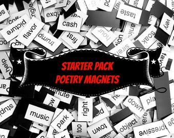 Starter Pack Poetry Magnets - Refrigerator Word Quote Magnets