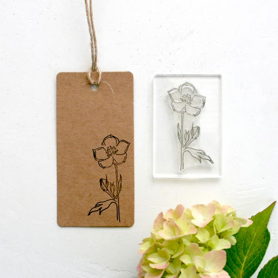 Buttercup Stamp - Buttercup - Renunculus - Buttercup Leaf Stamp - Wild Flower Clear Rubber Stamp - Clear Stamp - Stamp Store