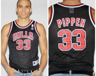 FINAL SALE - Vintage Chicago Bulls Jersey - Scottie Pippen Jersey - Vintage NBA - 2546