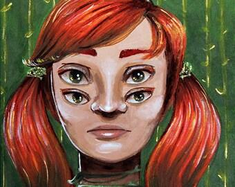 Ivy Portrait - Original Painting