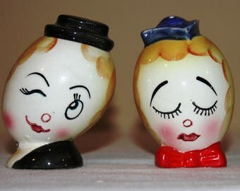 Vintage Thames Anthropomorphic Salt and Pepper Shaker Set