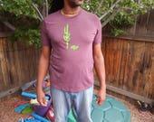 Men's/Unisex SAGUARO, desert tortoise Tri-blend t-shirt, Size XS-XXL