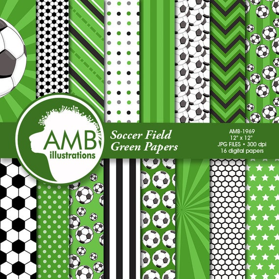 Sports Digital Paper Soccer Papers And Backgrounds Football Field